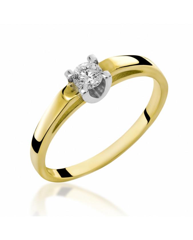 Pierścionek Zaręczynowy z brylantem 5850B77