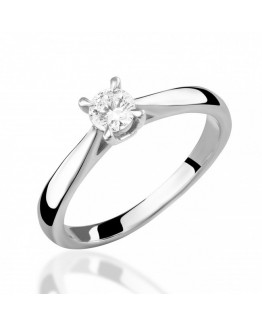 Pierścionek zaręczynowy białe złoto Apart