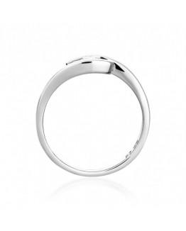 Pierścionek Zaręczynowy z brylantem Białe złoto 0393