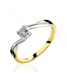 Pierścionek z cyrkonią 0,20 ct  5850B48C markowa biżuteria