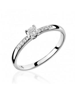Pierścionek Zaręczynowy z Brylantem 5850C64 Białe złoto