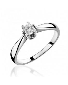 Pierścionki zaręczynowe z diamentem, białe złoto 5850C42