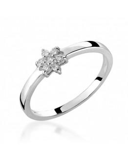 Pierścionek Zaręczynowy z Brylantem  Białe złoto Jubiler online 5850C71
