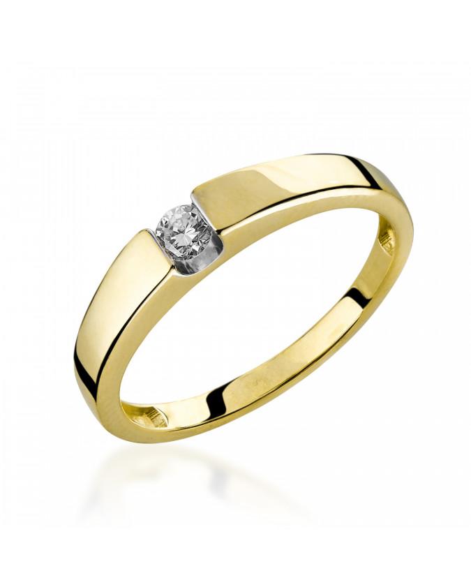 Pierścionek z brylantem Białe złoto 5850A46.10