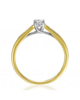 Pierścionek zaręczynowy z brylantami 0,25 ct