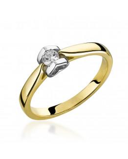 Pierścionek zaręczynowy z brylantem 5850C83