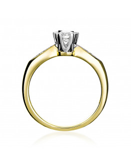 Pierścionek z brylantami RS0055 0,33 ct