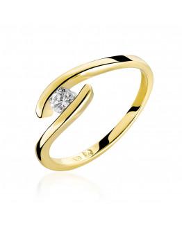 Pierścionek Zaręczynowy z brylantem model 0,15 ct  Savicki