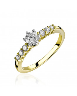 Pierścionek z brylantami RS0129 0,48 ct