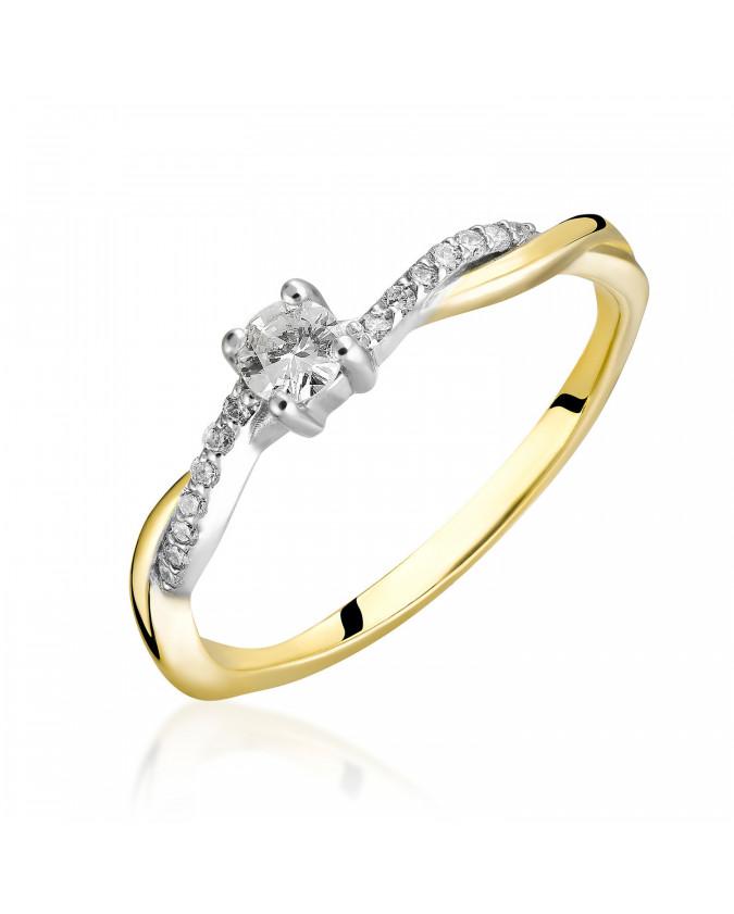 Pierścionek Zaręczynowy z brylantem 5850C07